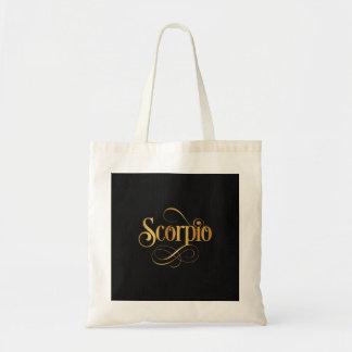 Oro del escorpión de la muestra del zodiaco de la  bolsa tela barata