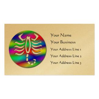 Oro del escorpión del zodiaco del color del arco i plantilla de tarjeta de negocio