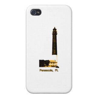 Oro del faro de Pensacola FL el GIF de Zazzle del  iPhone 4 Carcasa