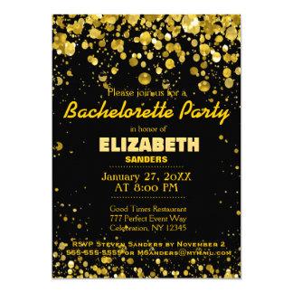 "Oro del fiesta de Bachelorette Invitación 5"" X 7"""