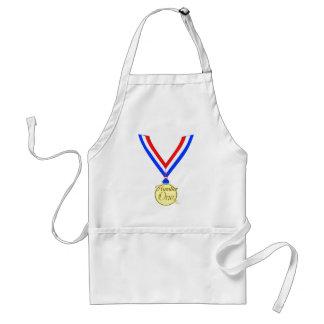 Oro del ganador de medalla del número uno de oro delantal