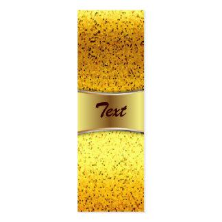 Oro del gráfico del brillo de la tarjeta de visita