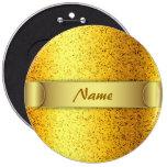 Oro del gráfico del brillo del botón pins