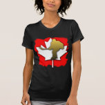 Oro del hockey de Canadá Camiseta