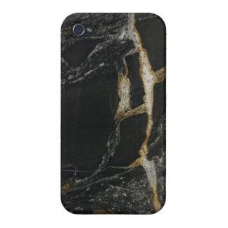 """""""Oro del magma - caso de iPhone4 del granito"""" iPhone 4/4S Fundas"""
