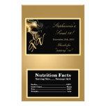 Oro del Mis XV de la envoltura de las palomitas de Tarjetas Informativas