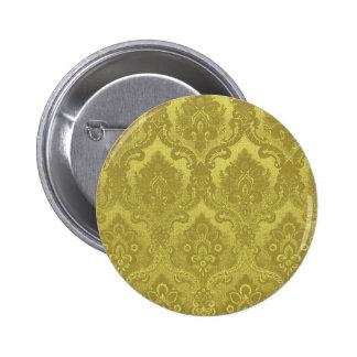 Oro del modelo del papel pintado del vintage chapa redonda 5 cm