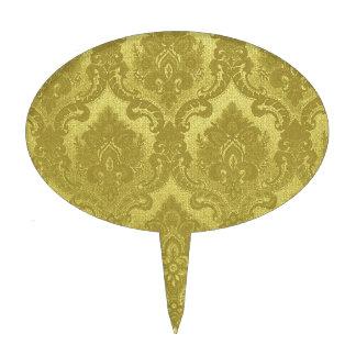 Oro del modelo del papel pintado del vintage decoración para tarta