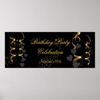 Oro del negro de la celebración de la fiesta de cu poster