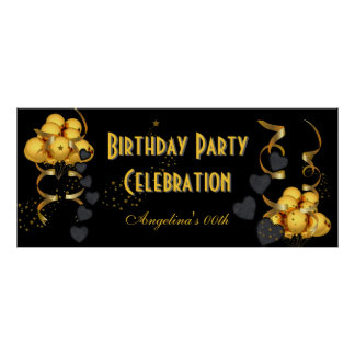 Oro del negro de la celebración de la fiesta de cu impresiones
