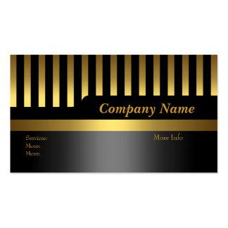 Oro del negro de la raya de la empresa de tarjetas tarjetas personales