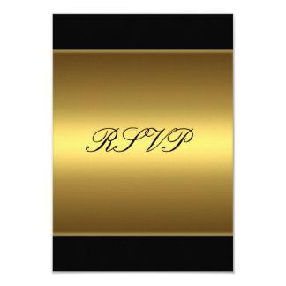 """Oro del negro de la tarjeta de la respuesta de invitación 3.5"""" x 5"""""""