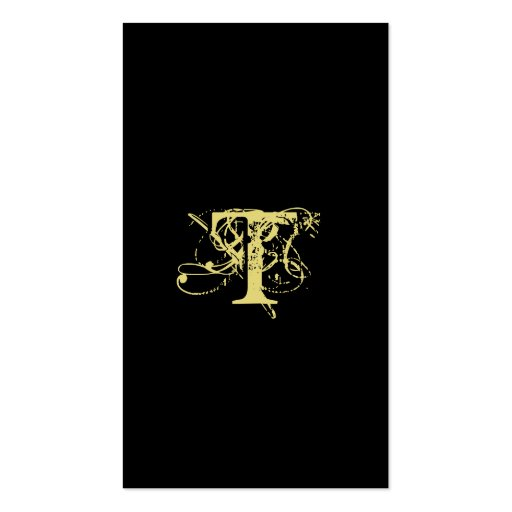 Oro del negro del monograma de la tarjeta de visit plantilla de tarjeta de negocio