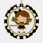 Oro del negro del ornamento del navidad del chica ornamentos de reyes