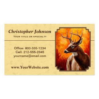 Oro del otoño del venado de cola blanca tarjetas de visita