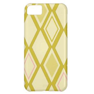 Oro del papel pintado del diamante - caso del comp funda para iPhone 5C