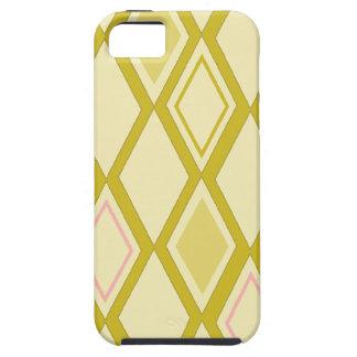 Oro del papel pintado del diamante - caso del iPhone 5 fundas