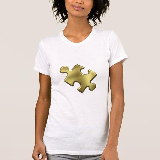 Oro del pedazo del rompecabezas del autismo camiseta