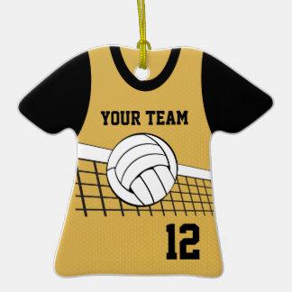Oro del personalizable del jersey del voleibol adorno de cerámica en forma de camiseta