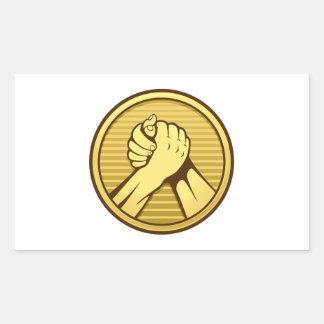 Oro del pulso pegatina rectangular