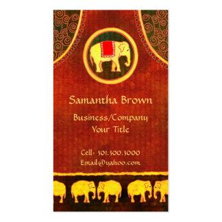 Oro del reino del elefante y tarjetas de visita