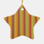 Oro del rojo anaranjado del modelo rayado del otoñ adorno para reyes