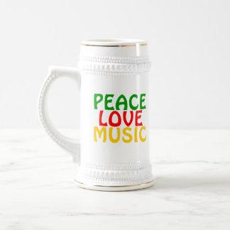 Oro del rojo del verde de la música del amor de la taza