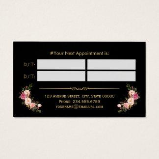 Oro del salón de belleza del vintage de la tarjeta tarjetas de visita