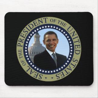 Oro del sello de Obama Tapete De Ratones