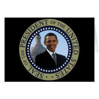 Oro del sello de Obama Felicitación