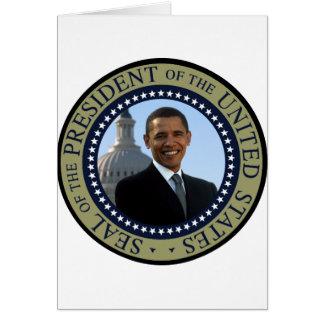 Oro del sello de Obama Felicitacion