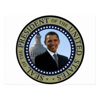 Oro del sello de Obama Tarjetas Postales