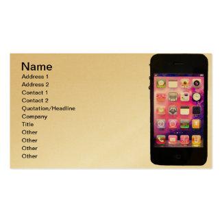 Oro del teléfono celular tarjetas de visita