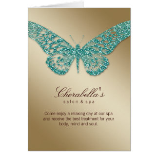 Oro del trullo de la mariposa de la tarjeta del fo