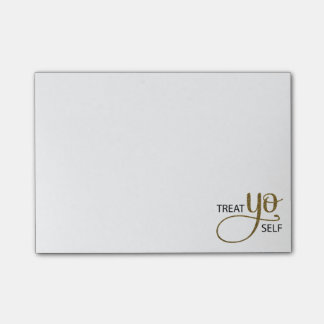 Oro del uno mismo de Yo de la invitación Post-it® Notas