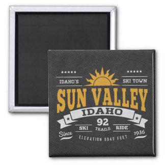 Oro del vintage de Sun Valley Imanes De Nevera
