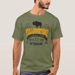 Oro del vintage de Yellowstone Playera