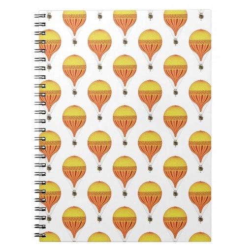 Oro del vintage, rosa fuerte, globos fucsias del note book