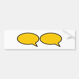 Oro derecho de la burbuja 2 de la palabra los rega pegatina de parachoque