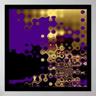 Oro derretido extracto de la impresión en púrpura  impresiones