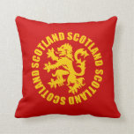 Oro desenfrenado y rojo del león de Escocia Almohadas