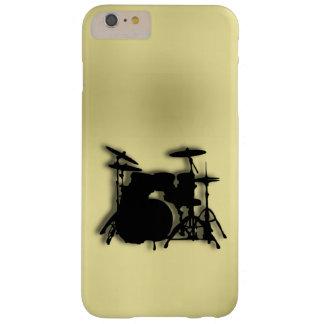 Oro determinado del tambor funda de iPhone 6 plus barely there