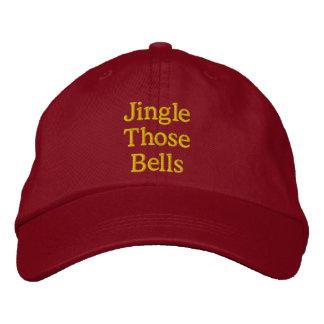 Oro divertido del rojo de la insinuacíon del navid gorras bordadas
