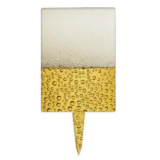 Oro divertido del vidrio de cerveza de las decoraciones para tartas