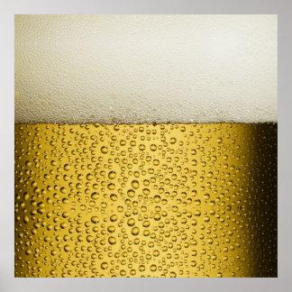Oro divertido del vidrio de cerveza de las póster