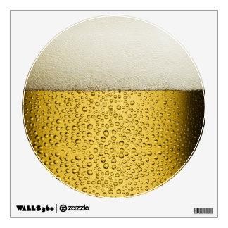 Oro divertido del vidrio de cerveza de las vinilo adhesivo