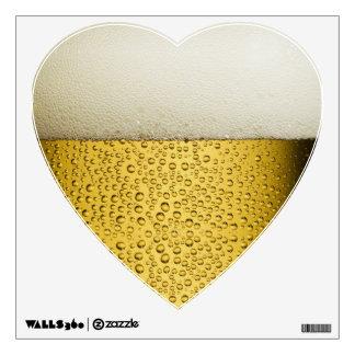 Oro divertido del vidrio de cerveza de las vinilo decorativo