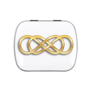 Oro doble del infinito - Belly de la jalea Frascos De Caramelos
