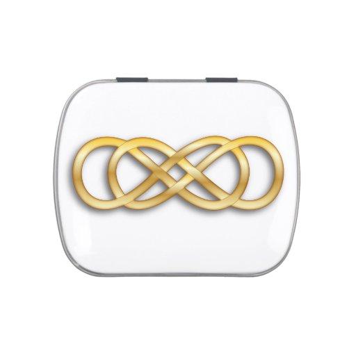 Oro doble del infinito - Belly de la jalea Latas De Caramelos