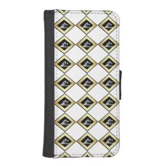 Oro dual y blanco de las unidades de bombeo del fundas billetera de iPhone 5
